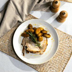 Porchetta met aardappelen